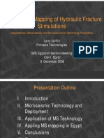 Micro Seismic Mapping of Hydraulic Fracture Stimulations