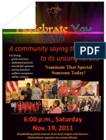 I Celebrate You Poster 2011