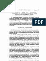 REFLEXIONES ACERCA DE LA ESCRITURA