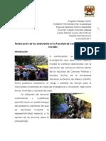 Reubicación de los ambulantes en la Facultad de Ciencias Políticas y Sociales