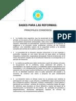 Acuerdo Argentino - Bases