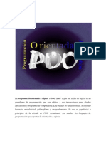 La programación orientada a objetos o POO