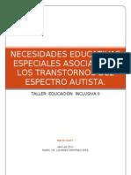 Necesidades Educativas Especiales Asociadas a Los Trans Tor Nos Del Espectro Autista