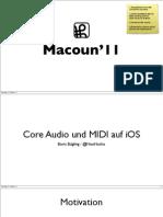 Core Audio und MIDI auf iOS