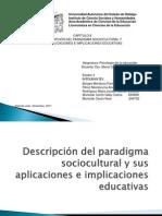 Presentacion Descripcion Del Paradigma Sociocultural