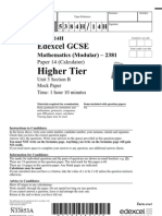 Higher Mock Terminal Calculator Modular Paper