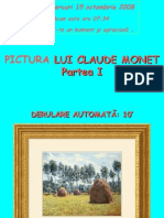 Pictura Lui Claude Monet (Partea i 47 Diapozitive