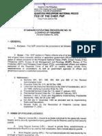 PNP SOP No. 13 Firearms Licensing 2008