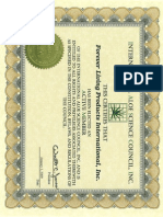 2009 IASC Certificate FLP International