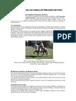 Concursos Nacional y Regional Caballos Peruanos de Paso
