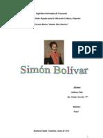 Traabajo de Simon Bolivar Anthony