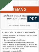 Politica de Precios_analisis de Los Precios y La Funcion de Demanda