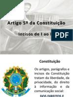 Artigo 5º da Constituição_ Inc I a X
