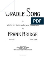 -Bridge Frank Cradle Song- For Cello and Piano