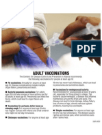 Recommended vaccinations for adults