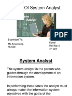 Role of System Analyst