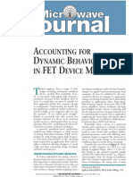 Accounting for DynAmic BehAvior in Fet Device MoDels