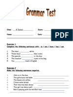 Final Grammar Test