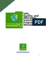 Volunteer Abroad through International Volunteer HQ