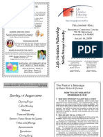 Bulletin 081609