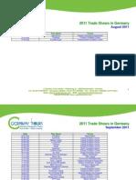 2011-2012 Trade Fairs List