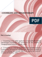 Basics of Counseling and Psychotherapy