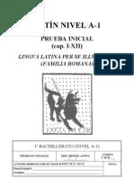Prueba inicial 1 bachillerato. lingua latina