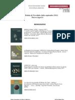 Boletín Novedades Biblioteca Julio-Septiembre 2011