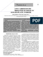 CARDIOMIOPATIA DILATATIVÃ DIN HEMOCROMATOZA SECUNDARÃ SINDROMULUI MIELODISPLAZIC