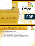Office 2007 Ppt Module 1- Word