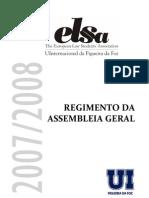 Regimento Da Assembleia Geral Da ELSA UInternacional Da Figueira Da Foz