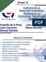 Presentacion FINAL, Auditoria y Seguridad a Universidad JINSA