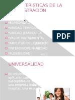 Caracteristicas de La Admin is Trac Ion