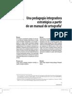 Fraca 2007 Una pedagogía integradora estratégica a partir de un manual de ortografía
