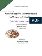 Written Report in Western Civ.
