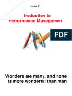 Lecture 1-Performance Management