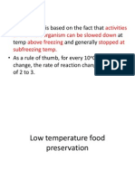 Low Temperature Food Preservation