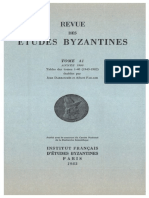 Revue des Études Byzantines. Volume 41.