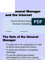 The General Manager and the Internet