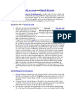 Học thuyết lợi thế so sánh của David Ricardo