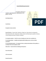 General Physiotherapy Assessment