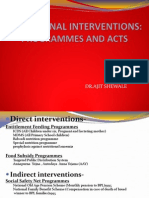 Food Security-programme and policies