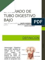 Sangrado de Tubo Digestivo Bajo
