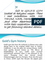 Golds Gym Ppt