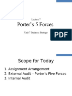 Lecture 7 Business Strategy - Porter_s 5 Forces and Cluster