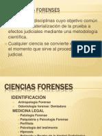 Las ciencias forenses