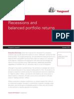 Recessions and Balanced Portfolio Returns- Vanguard