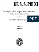Actes de S.S. Pie XI - (Tome 9)