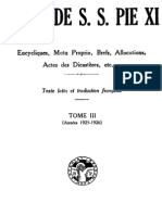 Actes de S.S. Pie XI - (Tome 3)