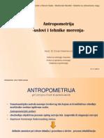 Antropometrija-Uslovi i Tehnike Merenja